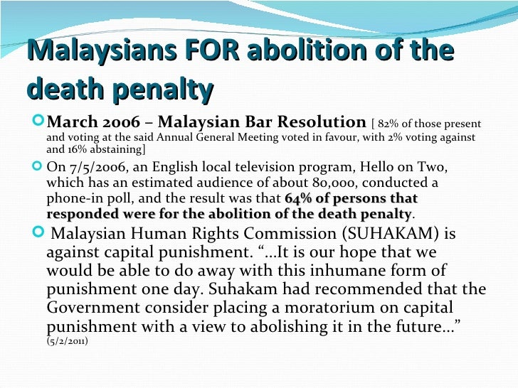 an analysis of the capital punishment by abolitionists Analysis of capital punishment abolitionists vs  the act of capital punishment has been a subject of debate in north  it was limited to only capital.