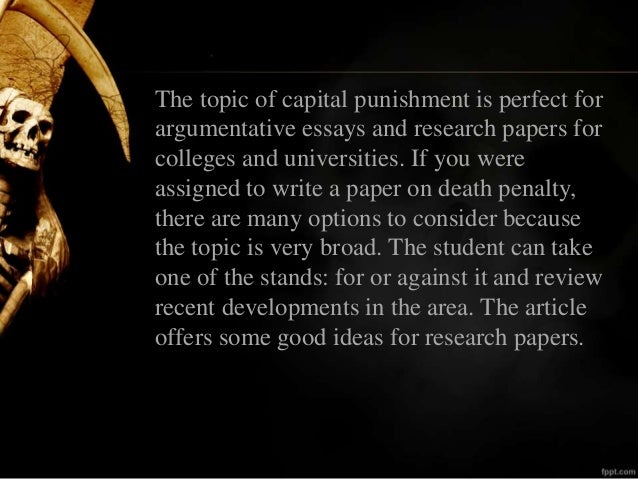 good intro death penalty essay The introduction to death penalty philosophy essay introduction to death penalty capital punishment has proved to have good benefits in order to determine.