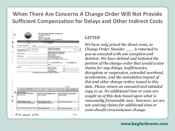 how to write a change order