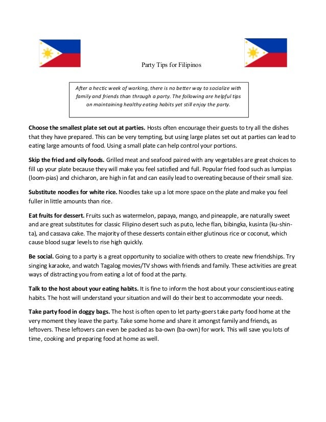 14457293aa3 Filipino Diabetics Project Party Tips (Updated- Mar 28)