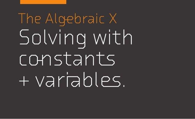 Algebra Symbols + the rules for manipulating symbols.