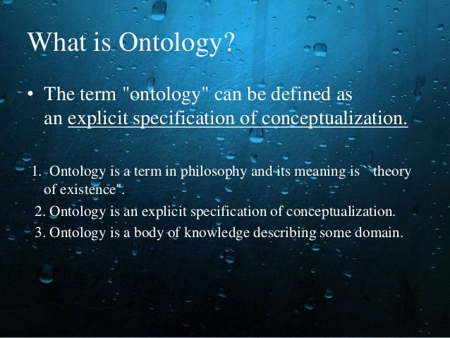 Ontological study definition of