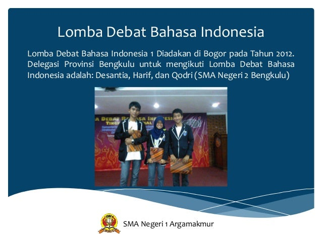Modul Debat Bahasa Indonesia Sma Negeri 1 Argamakmur