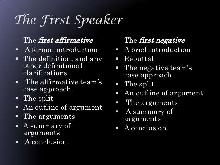 first speaker debate template - debate