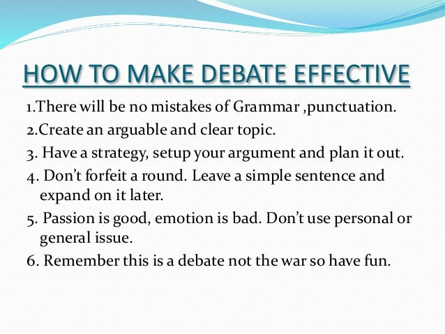 how to prepare for debate