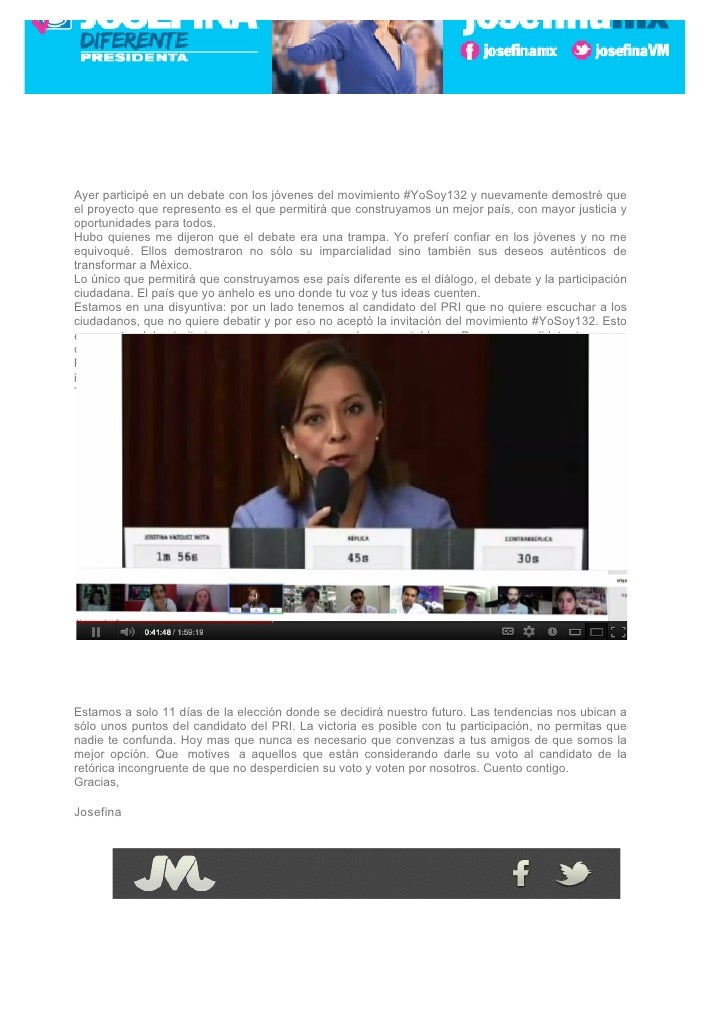 Ayer participé en un debate con los jóvenes del movimiento #YoSoy132 y nuevamente demostré queel proyecto que represento e...