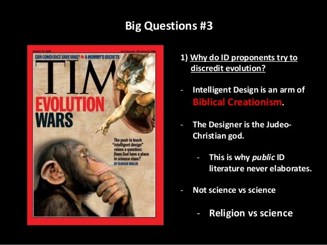 evolution vs intelligent design research paper The good news: dr wells, you have been following the evolution vs intelligent design debate for quite some time what is your opinion on how it's been faring and.