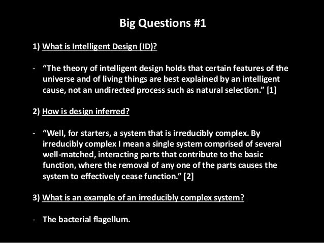 a discussion on evolution and intelligent design Part 4 table of contents:   december 19, 1997 - id proponents: william f buckley jr, phillip johnson.