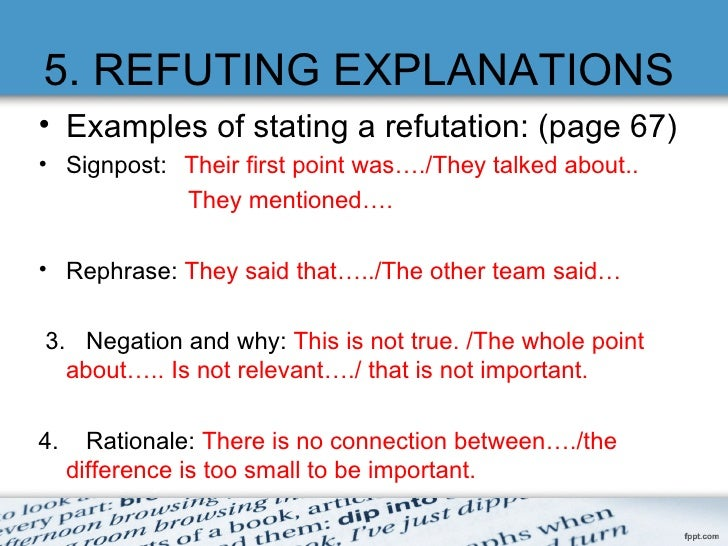 How Do You Start a Refutation Paragraph?