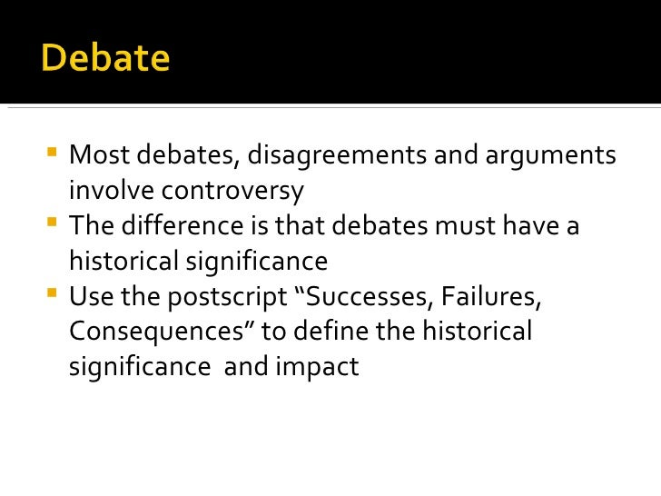 Debate And Diplomacy In History