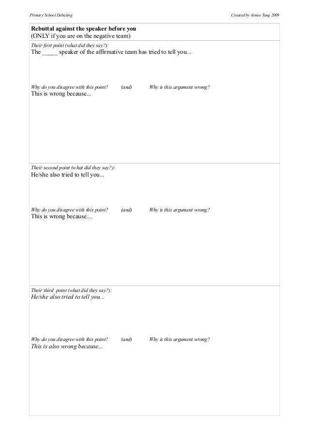 first speaker debate template debate preparation templates