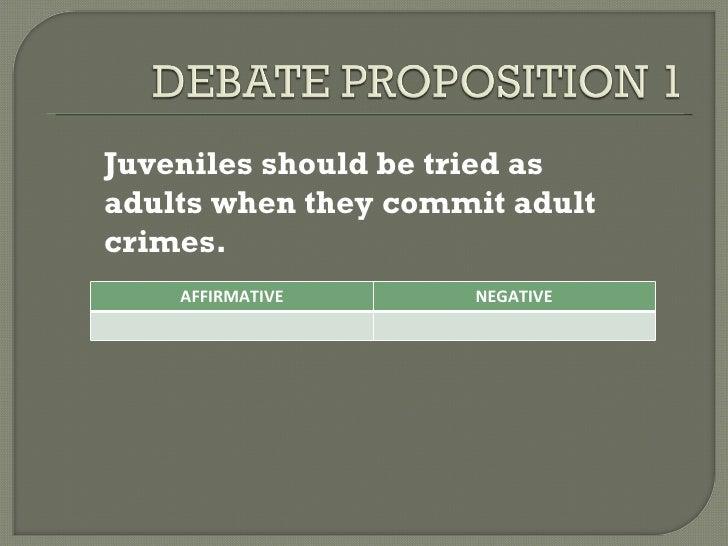 juveniles tried as adults debate