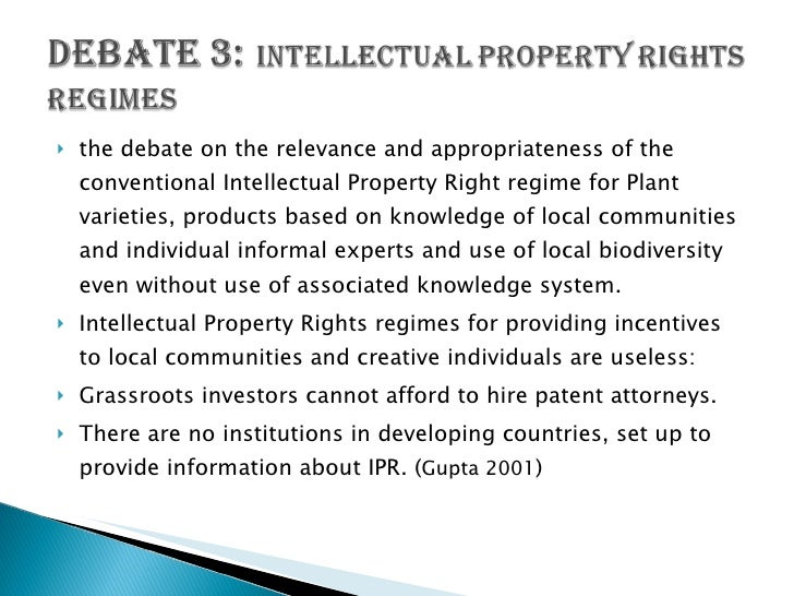 Confidential Information And Intellectual Property Property Debate