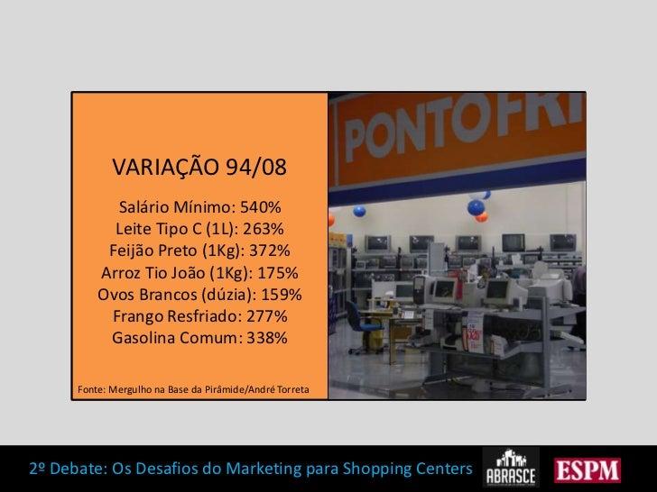 VARIAÇÃO 94/08<br />Salário Mínimo: 540%<br />Leite Tipo C (1L): 263%<br />Feijão Preto (1Kg): 372%<br />Arroz Tio João (1...