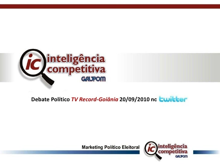 Debate Político TV Record-Goiânia 20/09/2010 no<br />