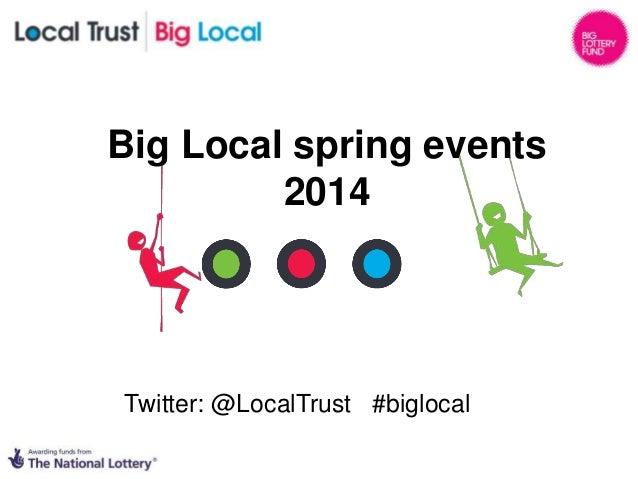 Big Local spring events 2014 Twitter: @LocalTrust #biglocal
