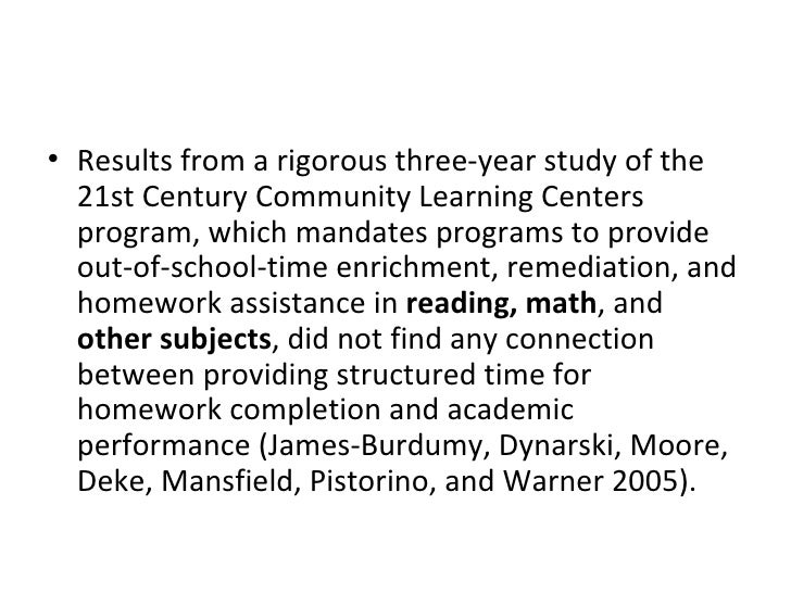 <ul><li>Results from a rigorous three-year study of the 21st Century Community Learning Centers program, which mandates pr...