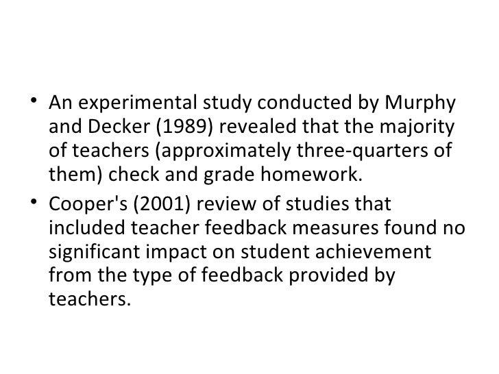 <ul><li>An experimental study conducted by Murphy and Decker (1989) revealed that the majority of teachers (approximately ...