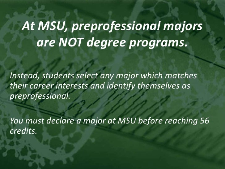 Msu College Of Natural Science Pre Professional