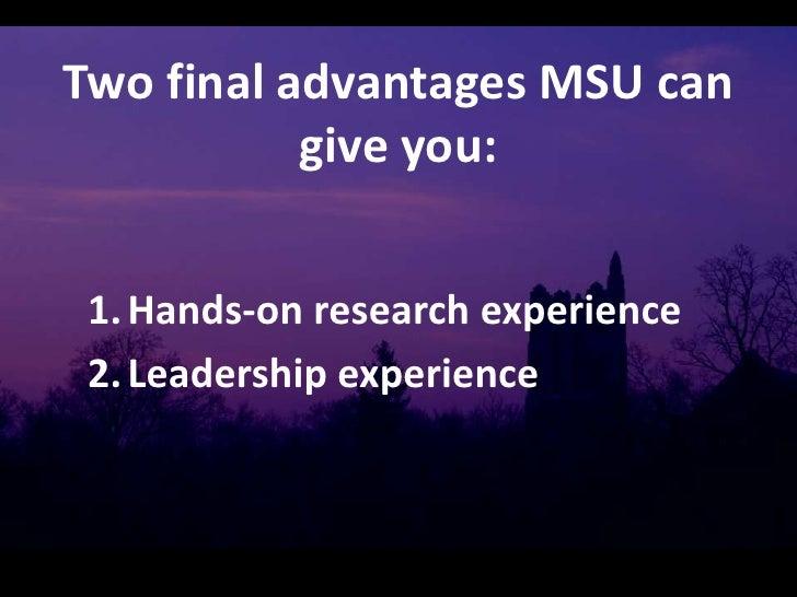 Msu Natural Science Courses