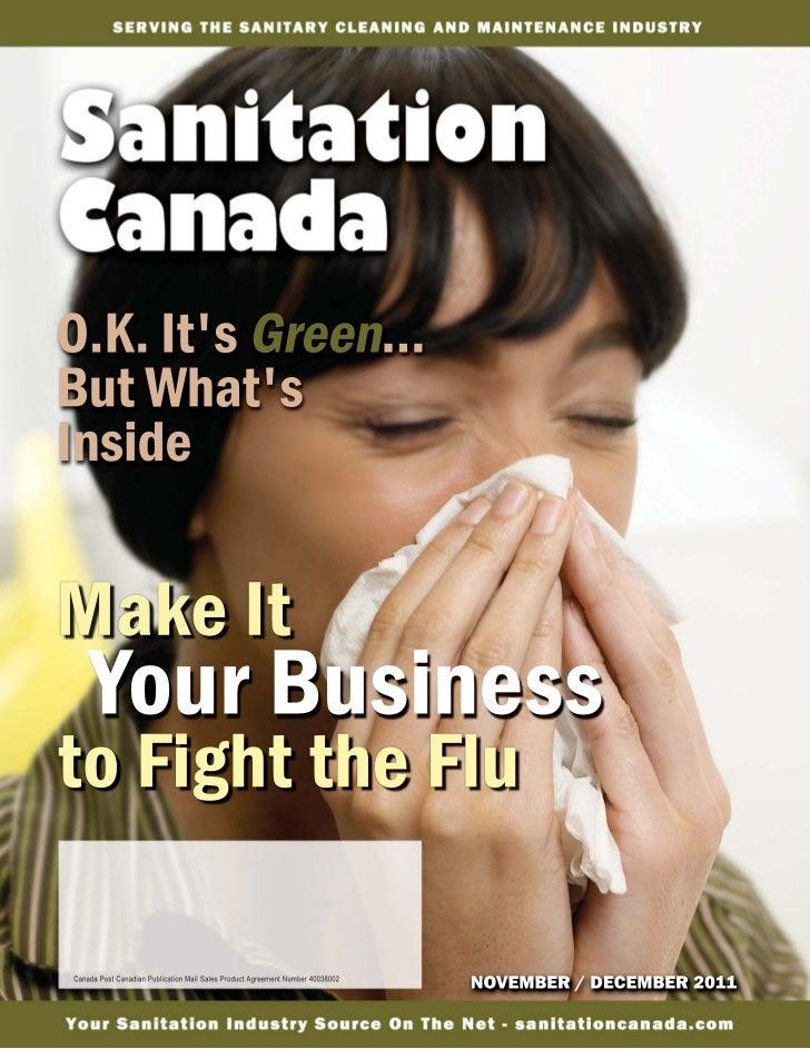 hand hygiene20 Sanitation Canada - NOVEMBER / DECEMBER 2011   Visit us on the Internet at   www.sanitationcanada.com