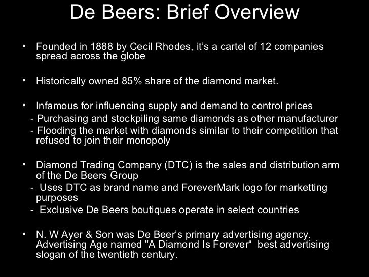 """de beers case study essay Overview the case study """"jose ignacio lopez de arriortua"""" outlines the  1249898, 1228189 and 1259957 an essay submitted to  de beers case study."""