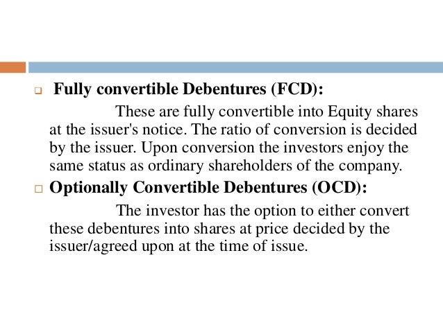 conversion of shares into debentures