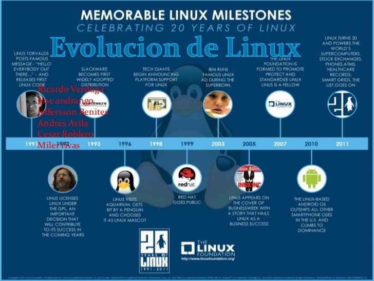 Evolucion de Linux<br />Ricardo Verduga<br />Joseandrango<br />JefferssonBenites<br />AndresAvila<br />Cesar Roblero<br />...