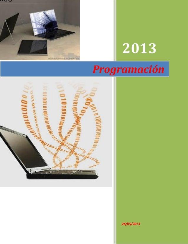 201326/05/2013Programación