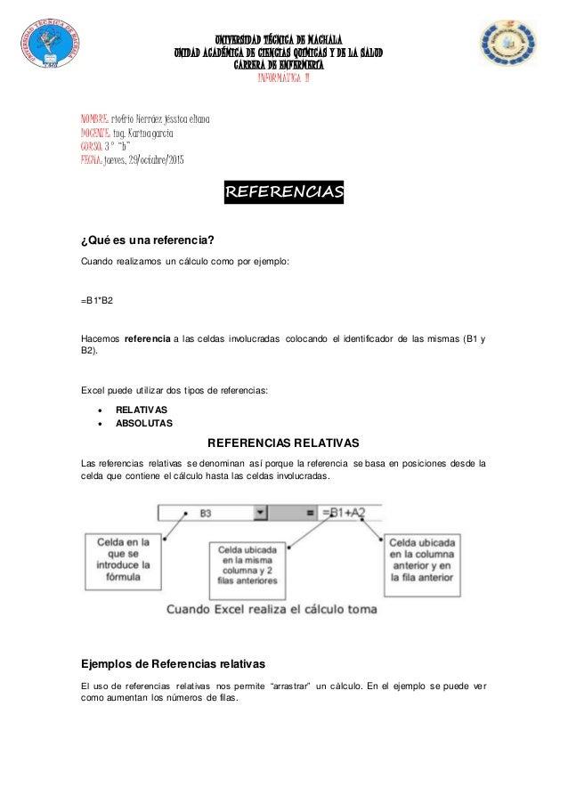 UNIVERSIDAD TÉCNICA DE MACHALA UNIDAD ACADÉMICA DE CIENCIAS QUÍMICAS Y DE LA SALUD CARRERA DE ENFERMERÍA INFORMÁTICA II NO...