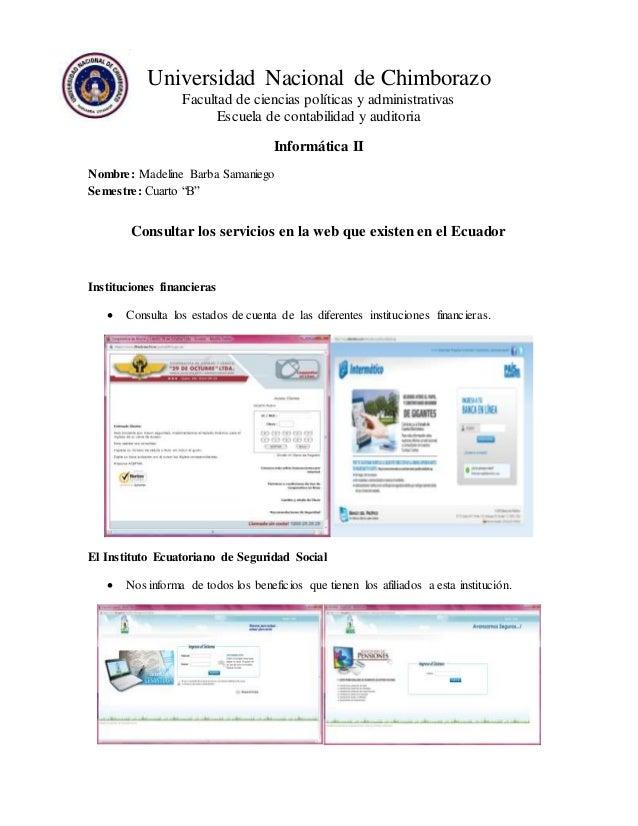 Universidad Nacional de Chimborazo  Facultad de ciencias políticas y administrativas  Escuela de contabilidad y auditoria ...