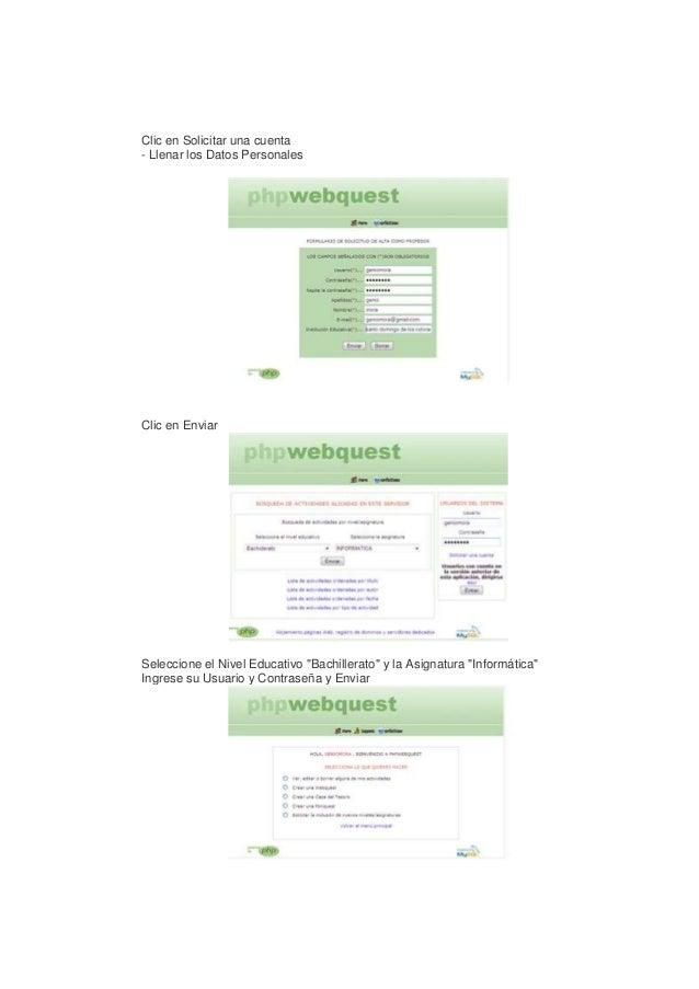 """Clic en Solicitar una cuenta - Llenar los Datos Personales  Clic en Enviar  Seleccione el Nivel Educativo """"Bachillerato"""" y..."""