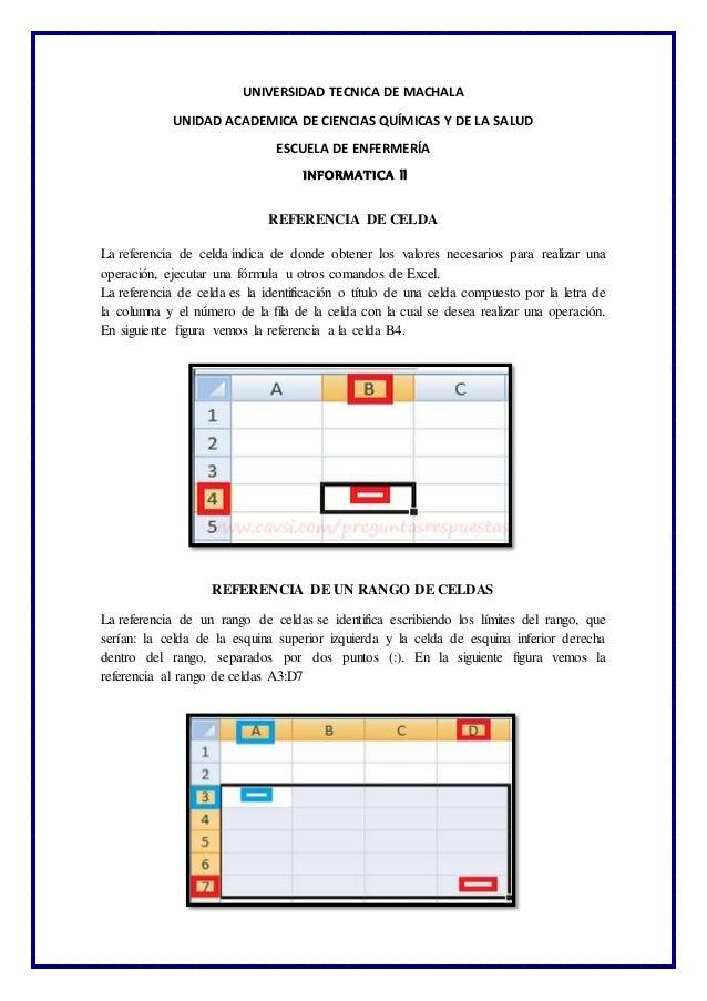 UNIVERSIDAD TECNICA DE MACHALA UNIDAD ACADEMICA DE CIENCIAS QUÍMICAS Y DE LA SALUD ESCUELA DE ENFERMERÍA INFORMATICA ll RE...