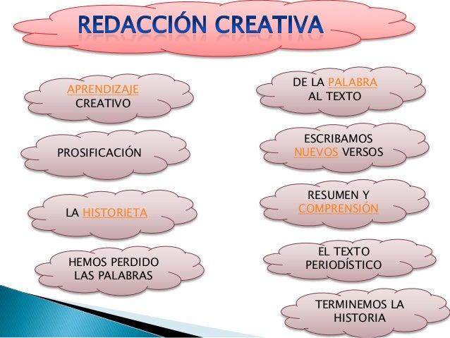 redacción creativa(lenguaje) Slide 2