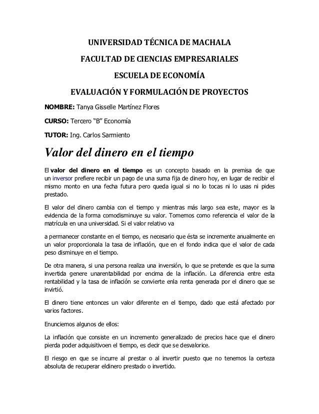 UNIVERSIDAD TÉCNICA DE MACHALA              FACULTAD DE CIENCIAS EMPRESARIALES                           ESCUELA DE ECONOM...