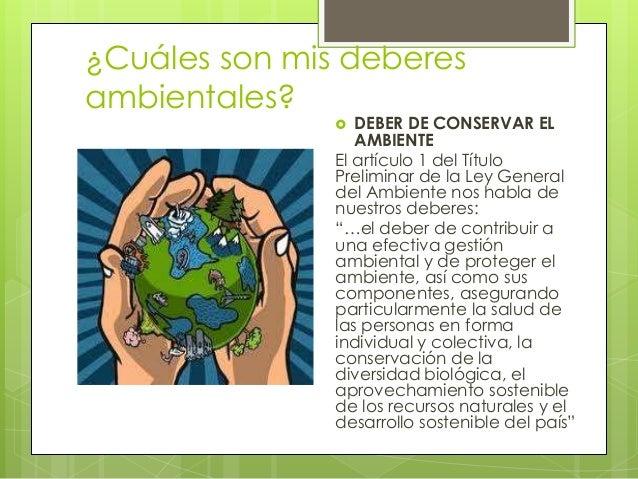 Deberes y derechos ambientales