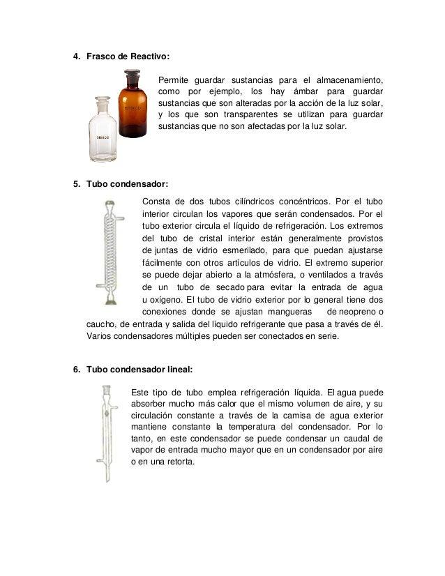 4. Frasco de Reactivo: Permite guardar sustancias para el almacenamiento, como por ejemplo, los hay ámbar para guardar sus...