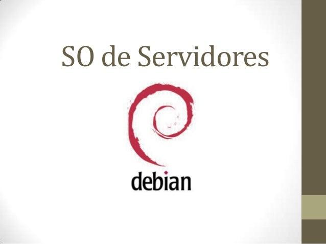 SO de Servidores