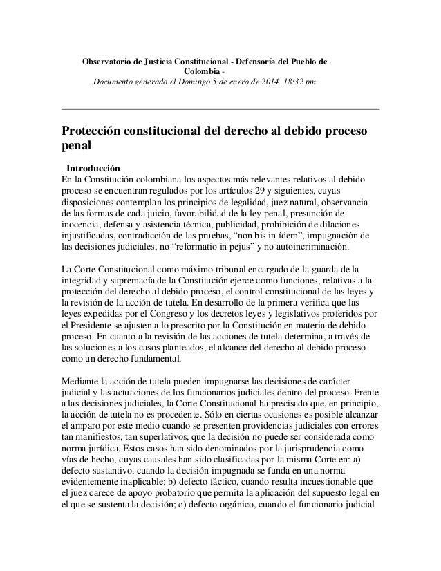 Observatorio de Justicia Constitucional - Defensoría del Pueblo de Colombia Documento generado el Domingo 5 de enero de 20...