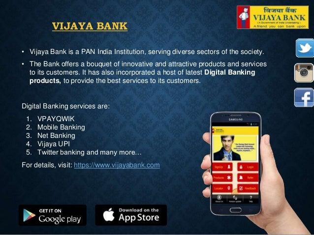 vijaya bank net banking details