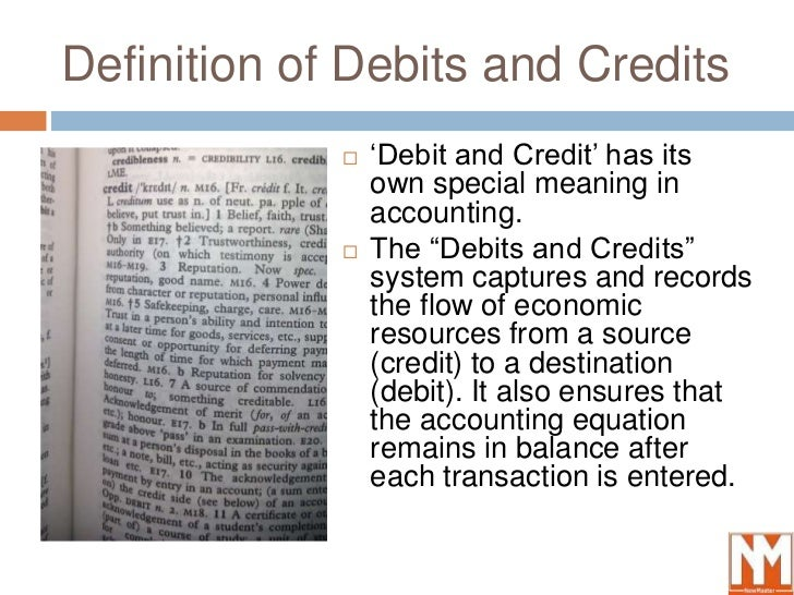 Accounting Equation Debit Credit