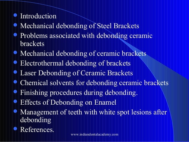 Debonding techniques and enamel fracture patterns /certified fixed or…