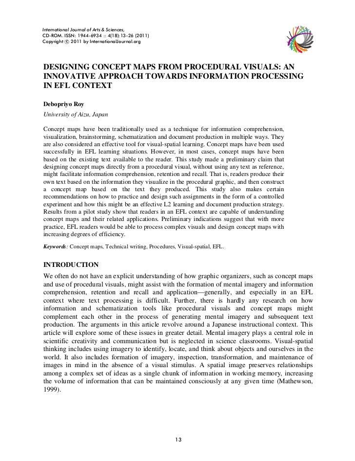 International Journal of Arts & Sciences,CD-ROM. ISSN: 1944-6934 :: 4(18):13–26 (2011)Copyright c 2011 by InternationalJou...