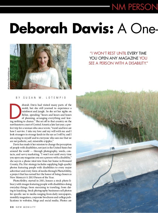 """NM PERSON  Deborah Davis: A One-W All photos: PhotoAbility.net  """"I WON'T REST UNTIL EVERY TIME YOU OPEN ANY MAGAZINE YOU S..."""