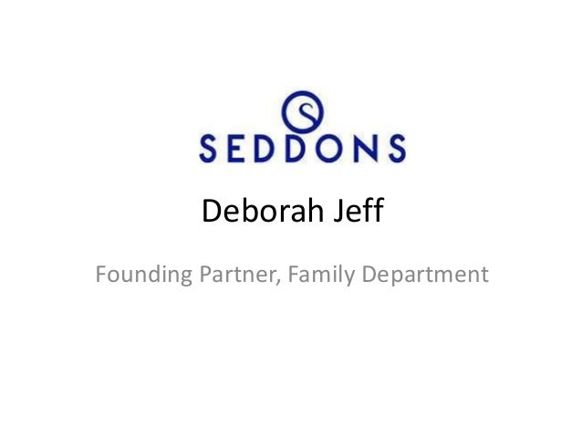 Deborah JeffFounding Partner, Family Department