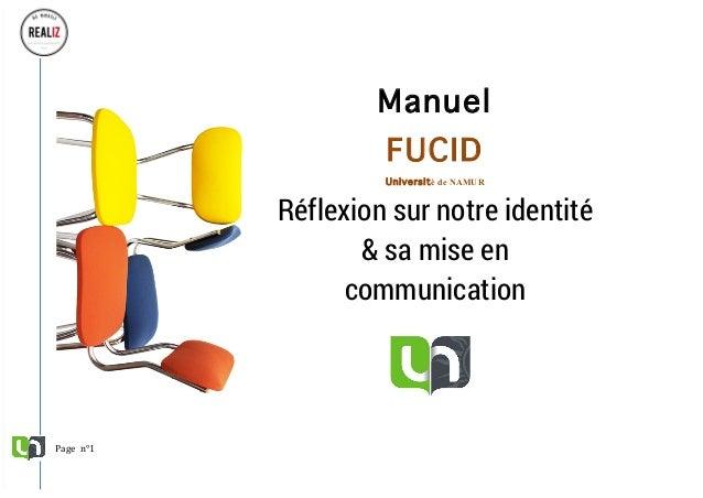 Pagen°1 FUCID/Documentdetravailinterne/ànepasdiffuser/REALIZ     Manuel FUCID Université de NAMUR Réfl...