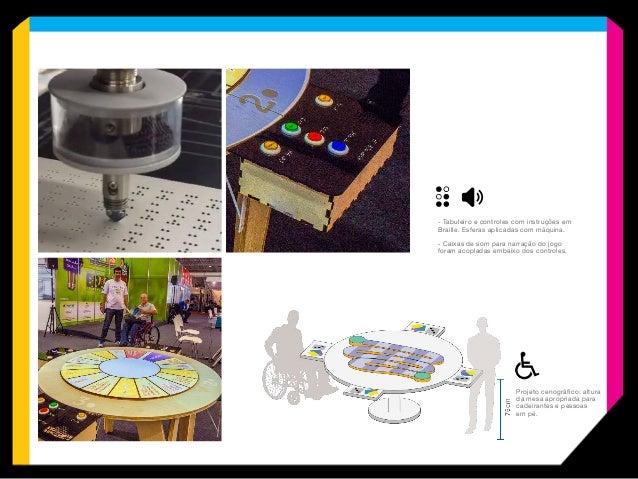 CENOGRAFIA CNC No Jogo da Acessibilidade Digital, construímos o tabuleiro e a mesa de suporte com peças cortadas em CNC, u...