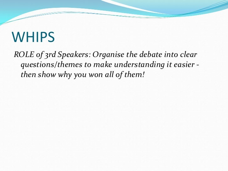 How to write a debate speech first speaker