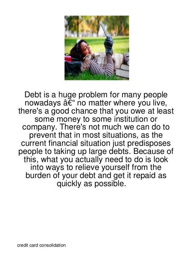 Debt is a huge problem for many people  nowadays – no matter where you live,theres a good chance that you owe at least  ...