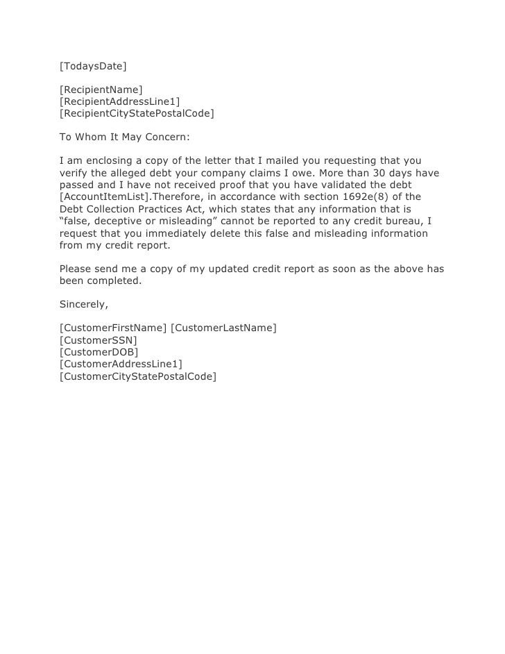 Validation Of Debt Letter from image.slidesharecdn.com